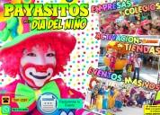 Payasos para eventos de dia del niÑo - cdmx/edomex