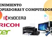 Reparacion de copiadoras impresoras computadoras