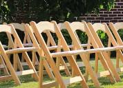 Vendo sillas de madera plegables para jardines