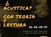 Clases de guitarra eléctrica o acústica