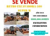 Retro excavadora 580 súper m