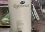 Calentador de agua de 38 litros marca optimus