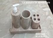 Accesorios para baño en mármol