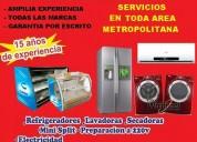 Reparación de refrigeradores-lavadoras-minisplit