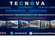Suministro y colocacion de canceleria de aluminio