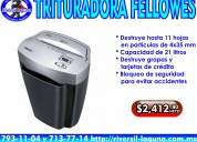 Trituradora fellowes de promocion