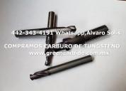 Compro cortadores usados de carburo de tungsteno
