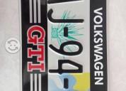Sticker / portaplacas gti, volkswagen, honda,