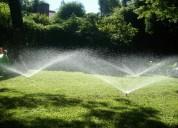 Riego automatico rain bird para jardin.