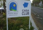 Terreno plano a de la casa club vista real en corregidora