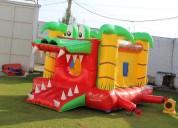 Renta de brincolin cocodrilo en el 15