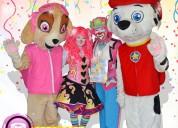 Payasos con paw patrol para fiestas infantiles
