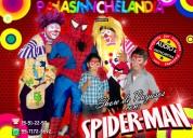 Payasos con spiderman para fiestas infantiles