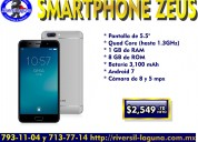 Smartphone ghia zeus color plata