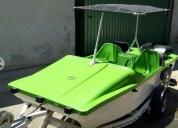 Excelente lancha motorizada grasshopper 440 en chapa de mota