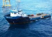 Barco abastecedor utility en carmen