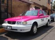 Taxi con placas gasolina