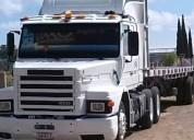 Tracto con plana diesel