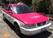 Taxi con placas nuevas gasolina