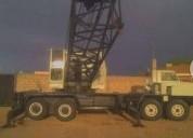 Grua estructural sobre camion