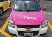 Taxi chevy gasolina en coyoacán