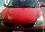 Clio rojo estandar conservado aire acondicionado gasolina