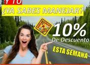 Autoescuela culiacán, 10% de descuento en sus curs