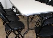 Juego de sillas y mesas banqueteras