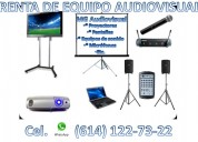Renta de equipo de audio y visual