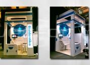 Renta stands y displays en puebla. vector diseño