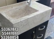 Muebles de marmol bellisimos con lavabo integrado