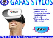 Gafas de realidad virtual stylos