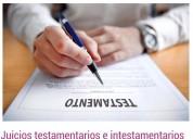 Juicios sucesorios intestamentarios y testamentari