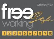 Membresía freestyle. renta 10 horas en sala juntas