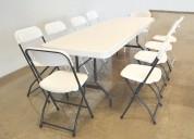 Paquete de tablÓn con sillas plegables