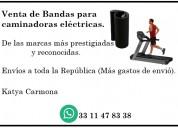 Venta de bandas para caminadoras eléctricas.
