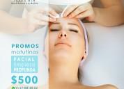 Limpieza facial profunda en promocion