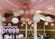 Decoraciones con globos para bodas, xv años bautiz