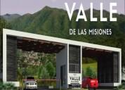 Terreno en venta valle de las misiones carretera nacional 1 500 000 250 m2