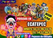 show infantil de payasos en tu fiesta de ecatepec