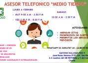 Call center **medio tiempo**