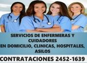 Personal de enfermeria y cuidadores a domicilio y