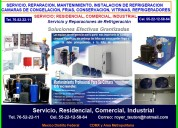 Reparación instalación mantenimiento refrigeración