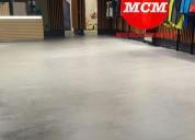 Metepec microcemento pisos sin uniones