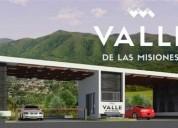 Terreno valle de las misiones en santiago