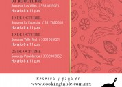 The cooking table/ clases de cocina