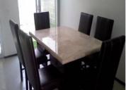 Comedor marmol 4,6 y 8 sillas