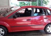 Ford fiesta hatchback 2007 rojo clima hidráulica,