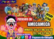 Juegos payasos show en amecameca