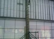 Renta de escalera telescopica con alcance de 9m